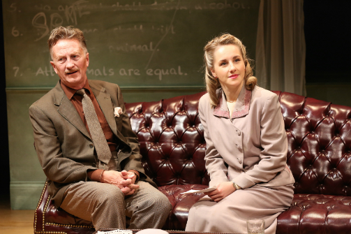 Jamie Horton and Jeanna De Waal in ORWELL IN AMERICA at 59E59 Theaters. Photo by Carol Rosegg