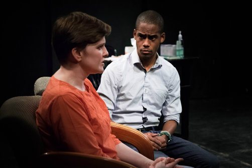 Kasey Brown and Marc J. Franklin in the world premiere of Thank You for Waiting